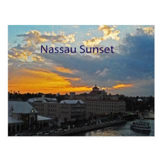 Carte Postale Coucher du soleil, Nassau Bahamas