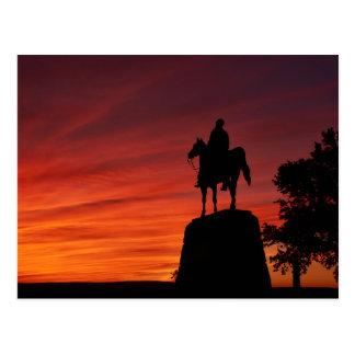 Carte Postale Coucher du soleil - parc national de Gettysburg -
