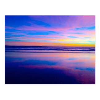 Carte Postale Coucher du soleil rêveur bleu, Santa Monica