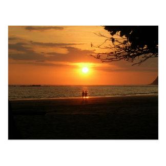 Carte Postale coucher du soleil romantique