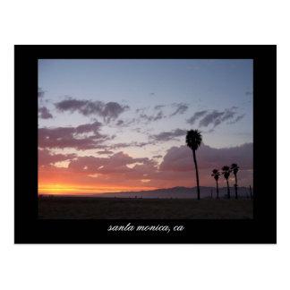 Carte Postale coucher du soleil : Santa Monica, Ca