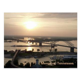 Carte Postale Coucher du soleil sur le fleuve Mississippi