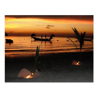 Carte Postale Coucher du soleil sur le KOH Tao