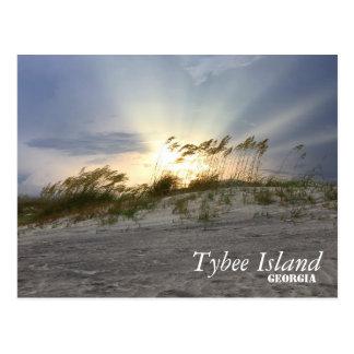 Carte Postale Coucher du soleil sur l'île de Tybee, la Géorgie