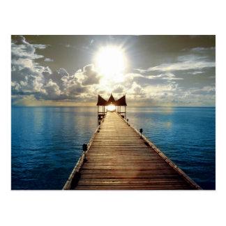 Carte Postale Coucher du soleil tropical