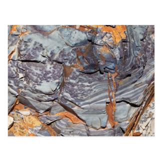 Carte Postale Couches naturelles d'agate dans un grès