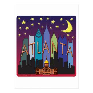 Carte Postale Couleur de méga d'horizon d'Atlanta