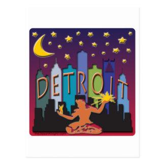 Carte Postale Couleur de méga d'horizon de Detroit