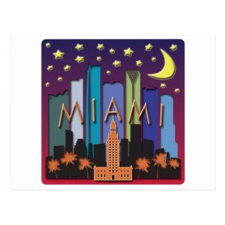 Carte Postale Couleur de méga d'horizon de Miami