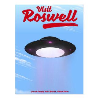Carte Postale Couleur de poster vintage d'UFO de Roswell de