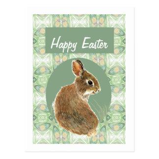 Carte Postale Couleur en pastel douce de lapin mignon