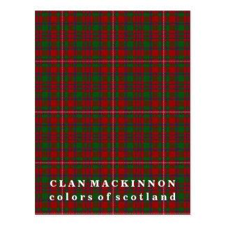 Carte Postale Couleurs de tartan de MacKinnon de clan de