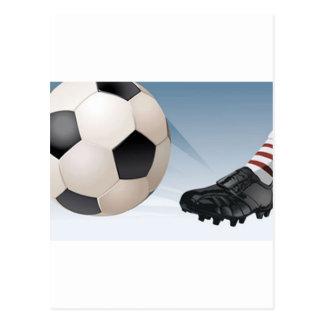 Carte Postale Coup-de-pied du football