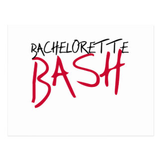 Carte Postale Coup noir/rouge de Bachelorette