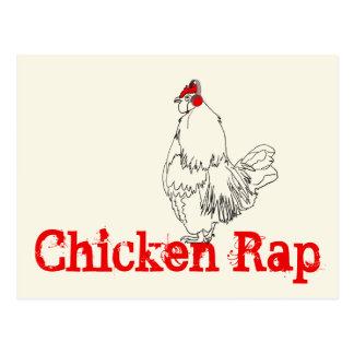 Carte Postale Coup sec et dur de poulet dessinant la conception
