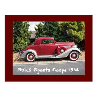 Carte Postale Coupé 1934 de sports de Buick