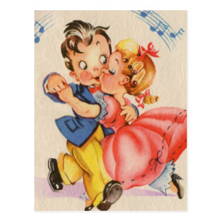 Carte Postale Couples de danse