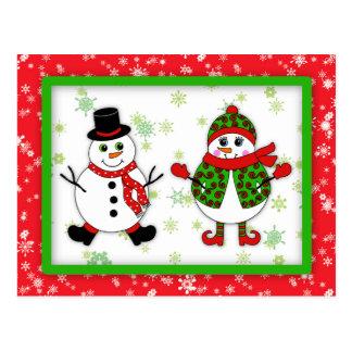 Carte Postale Couples de neige