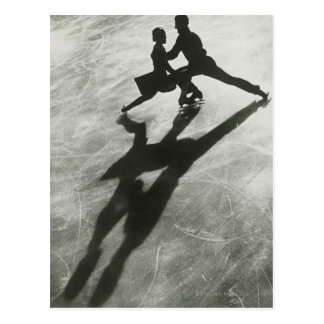 Carte Postale Couples de patinage de glace