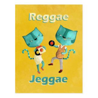 Carte Postale Couples des chats bleus de reggae
