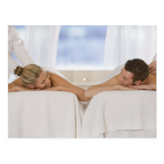 Carte Postale Couples obtenant des massages