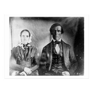 Carte Postale Couples posés 1840 d'homme et de femme
