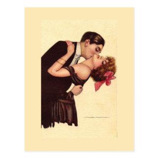 Carte Postale Couples ravis romantiques de ~ vintage d'art