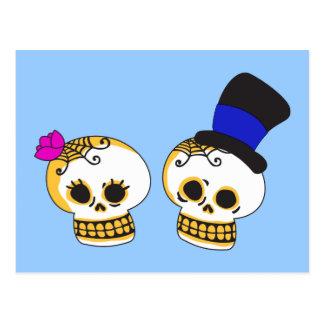 Carte Postale Couples squelettiques pimpants