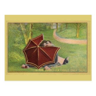 Carte Postale Couples vintages sous le parapluie