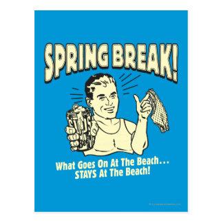 Carte Postale Coupure de ressort : Séjours à la plage