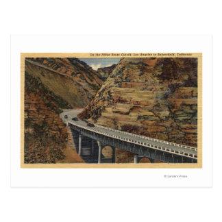 Carte Postale Coupure d'itinéraire de Ridge, allant à