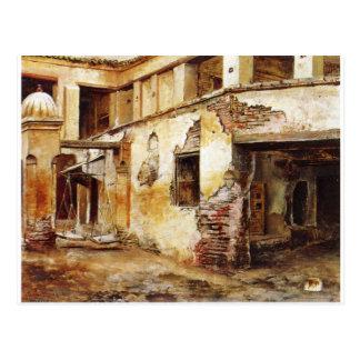 Carte Postale Cour au Maroc par seigneur Weeks d'Edwin