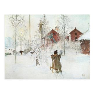 Carte Postale Cour de Carl Larsson et la Chambre de lavage