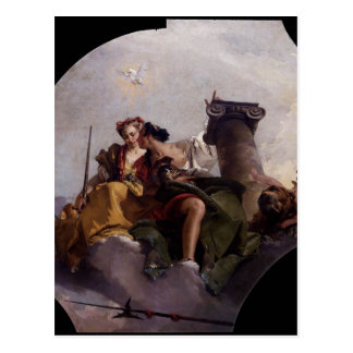Carte Postale Courage et justice par Giovanni Battista Tiepolo