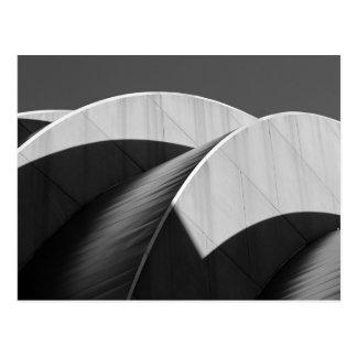 Carte Postale Courbes noires et blanches centrales de Kauffman