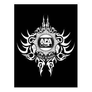 Carte Postale Coureur de Tableau d'APA noir et blanc
