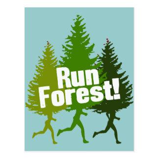 Carte Postale Courez la forêt, protégez le jour de la terre