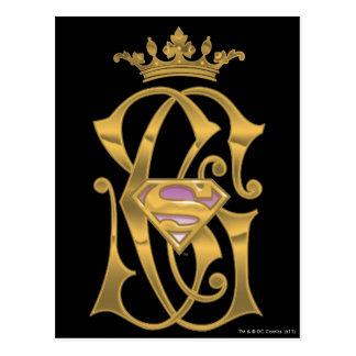 Carte Postale Couronne d'or de Supergirl