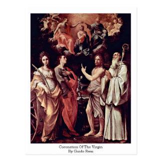 Carte Postale Couronnement de la Vierge par Guido Reni