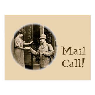 Carte Postale Courrier 1908