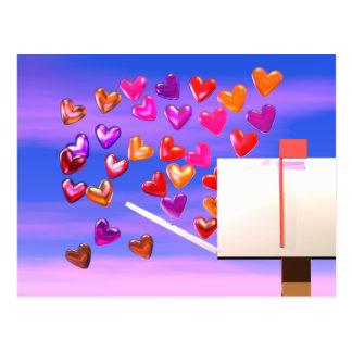 Carte Postale Courrier de coeur de Valentine