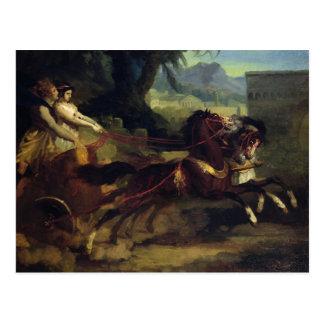 Carte Postale Course de char antique