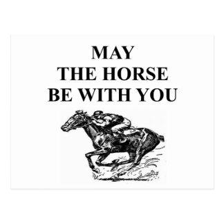 Carte Postale course de chevaux de pur sang