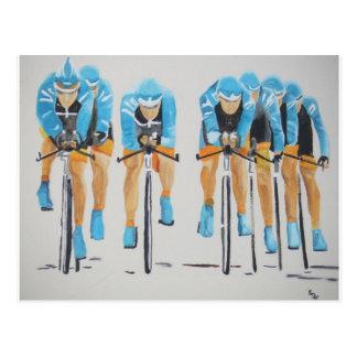 Carte Postale Course de cycle