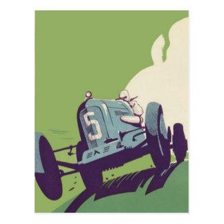 Carte Postale Courses d'automobiles vintages