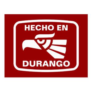 Carte Postale Coutume de personalizado d'en Durango de Hecho