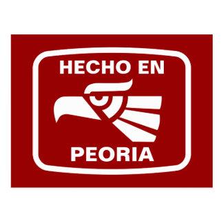 Carte Postale Coutume de personalizado d'en Peoria de Hecho