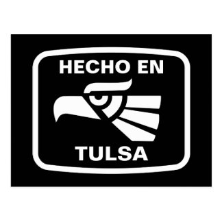 Carte Postale Coutume de personalizado d'en Tulsa de Hecho
