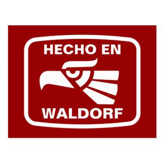 Carte Postale Coutume de personalizado d'en Waldorf de Hecho