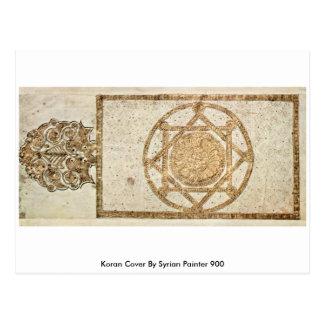 Carte Postale Couverture de Coran par le peintre syrien 900